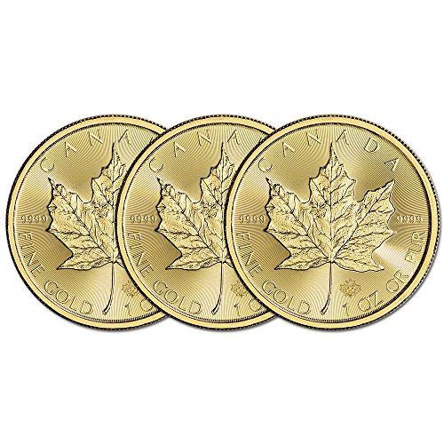 (3) 2016 Canada Gold Maple Leaf 1 oz