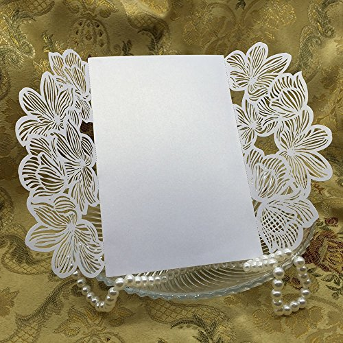 10Pcs/pack Romantic Wedding Invitation Card Envelope Delicate Carved Pattern Event Party Supplies