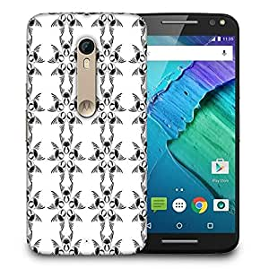Snoogg White Pattern Grey Printed Protective Phone Back Case Cover For Motorola X Style