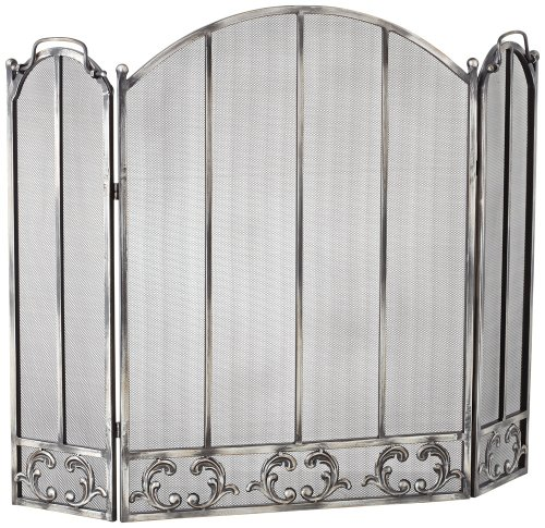 Best Price Silver Acanthus Leaf Fireplace Screen