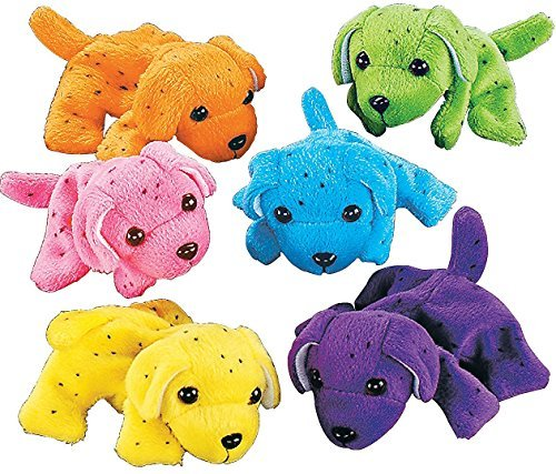 Plush-Neon-Dogs-1-dozen-Bulk-Assorted-Colors