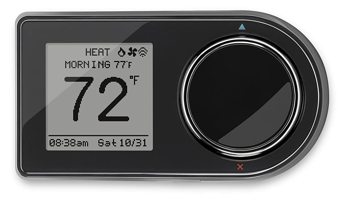 Lux Products GEO-BL Wi-Fi Thermostat, Black