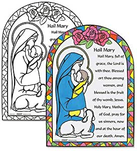 Buy Youth Kids Color Your Own 11 Cardstock Hail Mary