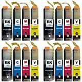 4 Compatible Set of 4 LC123 Printer Ink Cartridges (16 Inks) - Black / Cyan / Magenta / Yellow for Brother DCP-J132W, DCP-J152W, DCP-J4110DW, DCP-J552DW, DCP-J752DW, MFC-J4410DW, MFC-J4510DW, MFC-J4610DW, MFC-J470DW, MFC-J4710DW, MFC-J650DW, MFC-J6520DW, MFC-J6720DW, MFC-J6920DW, MFC-J870DW