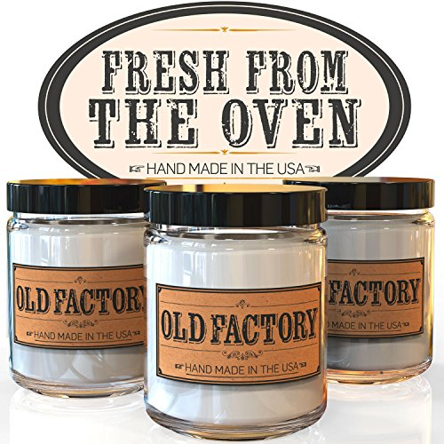 Scented Candles - Fresh from the Oven - Set of 3: Apple Pie, Cinnamon Roll, and Banana Bread - 3 x 4-Ounce Soy Candles (Bread Scented Candles compare prices)