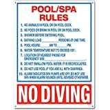 Poolmaster 40321 Pool/Spa Rules Sign for Commercial Pools - Florida Compliant