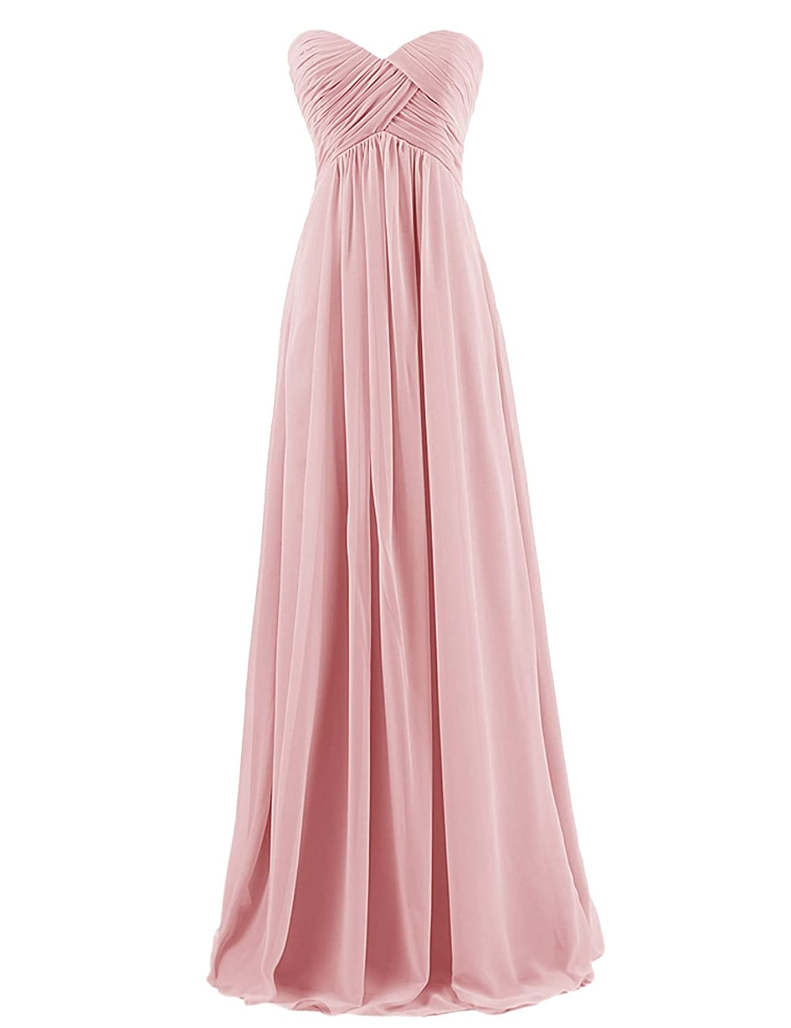 Dresstells® Sweetheart Bridesmaid Chiffon Prom Dresses Long Evening Gowns the unknown bridesmaid