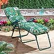 Classic Sun Lounger Cushion in Leaf Green