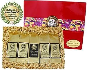 Kona Hawaiian Platinum Collection Gourmet Coffee Gift, Ground Coffee, Brews 60 Cups