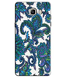 EU4IA Ethnic Floral Pattern MATTE FINISH 3D Back Cover Case For GALAXY C7 - D428