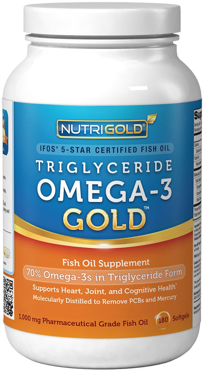 nutrigold omega 3 fish oil gold triglyceride form 1000mg