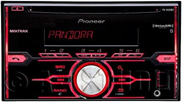 Pioneer FHX820BS Pioneer DDIN CD Receiver with Bluetooth for Hands-Free Calling and Audio Streaming SiriusXM-Ready