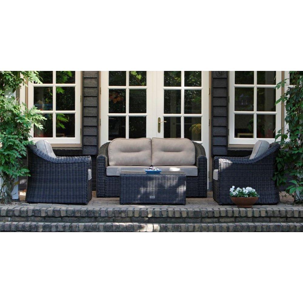 JUSThome Sunrise Gartenmöbel Sitzgruppe Gartengarnitur 2x Sessel + 1x Sofa + 1x Tisch aus Technorattan günstig online kaufen