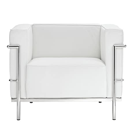 Charles Grande Armchair in White