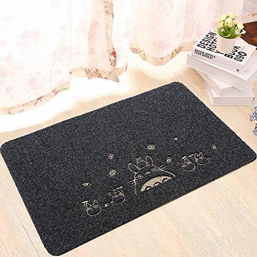Homecube - Zerbino per ingresso, in tessuto assorbente per la pulizia della casa, per il bagno, cucina, 40 x 60 cm, colore: Nero