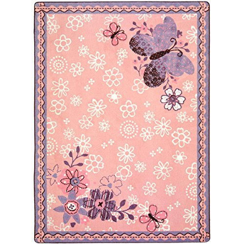 "Joy Carpets Kid Essentials Infants & Toddlers Flower Fields Rug, Multicolored, 5'4"" x 7'8"""