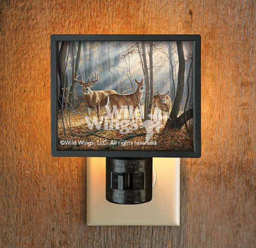 Woodland Splendor Whitetail Deer Gallery Art Night Light by Rosemary Millette - 1