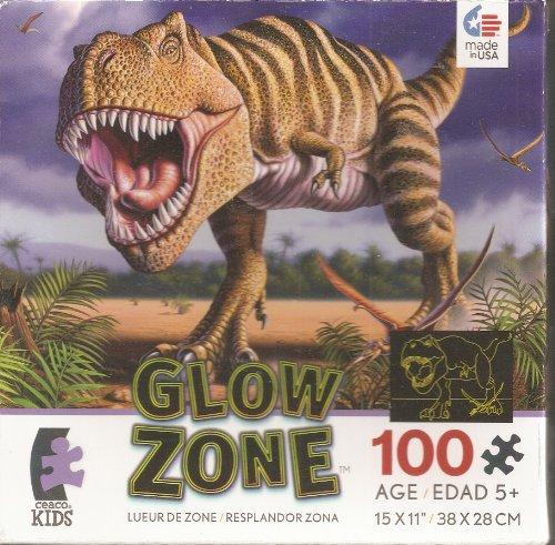 Glow Zone T-Rex 100 Piece Jigsaw Puzzle