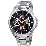 Ferrari Men's 'Aero' Quartz Stainless Steel Casual Watch, Color Silver-Toned (Model: 0830508)