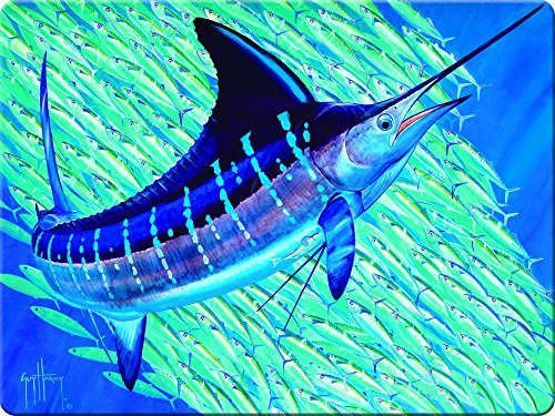 Rivers Edge Marlin Glass Cutting Board-Guy Harvey