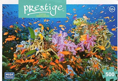 Tropical Reef - Prestige - 500 Pc Jigsaw Puzzle + Free Bonus 2015 Magnetic Calendar - 1
