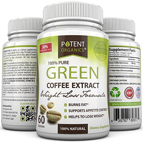 New - Green Coffee Bean Extract - 100% Pure - Perfect To Lose Weight & Burn Fat - Results Guaranteed - All Natural - No Side Effects - Works For Men & Women - 100% Lifetime Money Back Guarantee - Order Risk Free!