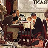 """Marmont Hill Norman Rockwell Prints on Canvas """"Saying Grace"""" Art Print, 32 by 32"""""""