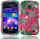 Green Lily Full Diamond Bling Case Cover for Samsung Galaxy Proclaim S720C Illusion i110