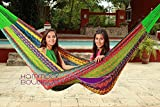 LARGE THICK CORD Hammock follows the traditional Mayan weaving but in a thick cord which makes it extra durable and heavy weight resistant. ItÕs a big hammock, great to share with family or friends.Up to 660 pounds resistance. Recommended for...