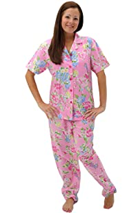 short sleeve cotton pajama set