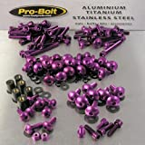 PRO BOLT FULL MONTY BOLT KIT FITS HONDA CBR600F 2001-2004 PURPLE
