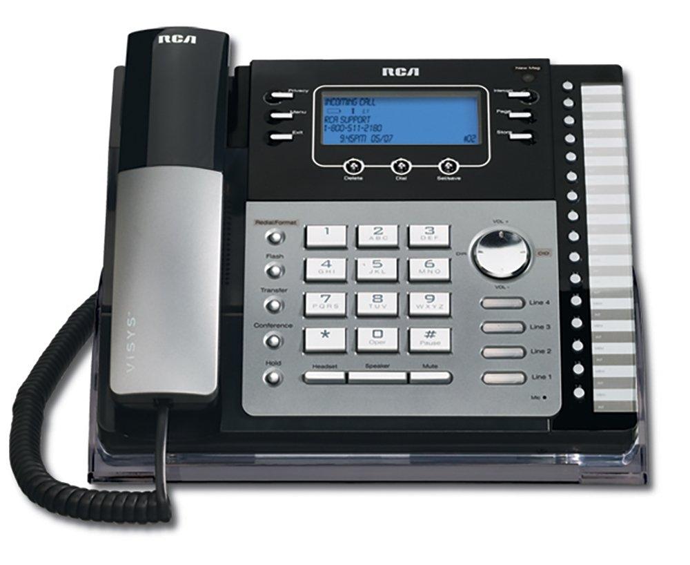 Telefonos-fijos RCA, RCA ViSys 25424RE1 4 sistema expandible teléfono con identificador de llamada llamada espera ID teléfonos con cable  en Veo y Compro