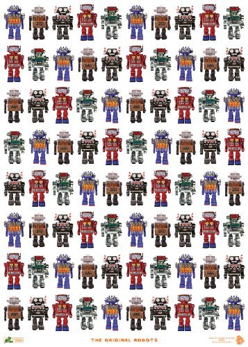 Robots Wrapping Paper (Robot Wrapping Paper compare prices)
