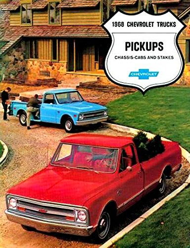 HISTORIC 1968 CHEVY PICKUP TRUCK DEALERSHIP SALES BROCHURE - INCLUDES; Fleetside, Stepside, Chassis Cab, Stake, Custom Campers, C 10, C 20, C 30, 2WD & 4WD - ADVERTISMENT - LITERATURE - CHEVROLET 68 (Chevy Trucks For Sale compare prices)