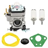 Harbot Carburetor with Gasket Fuel Line Kit for Earthquake Ardisam E43 Auger 300486 11334 43CC 51.7CC 2 Cycle