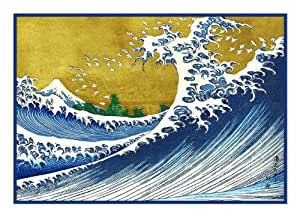 Colorized Wave Kanagawa By Japanese Hokusai
