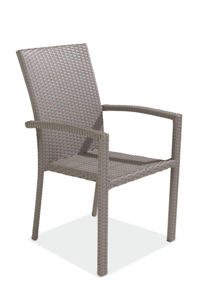 gartenstuhl stapelstuhl geflecht taupe brisbane 2 g nstig. Black Bedroom Furniture Sets. Home Design Ideas