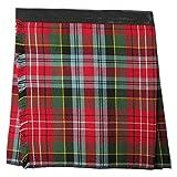 Kilt/falda escocesa para beb�s y ni�os peque�os - Tart�n Caledonia rojo - 0 -6 meses