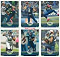 Seattle Seahawks 2013 Topps Complete Regular Issue 19 Card Team Set Including Russell Wilson, Marshawn Lynch, Sherman and Others, Super Bowl Champions