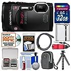 Olympus Tough TG-850 iHS Shock & Waterproof Digital Camera (Black) with 32GB Card + Case + Battery + Flex Tripod + Float Strap + Kit