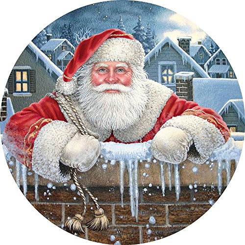 1000 Pc Round Puzzle - Santa Claus - by Artist Liz Goodrick Dillon