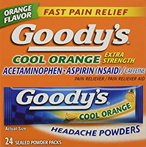 Goodys Cool Orange Extra Strength,  24ct Powder  Packages