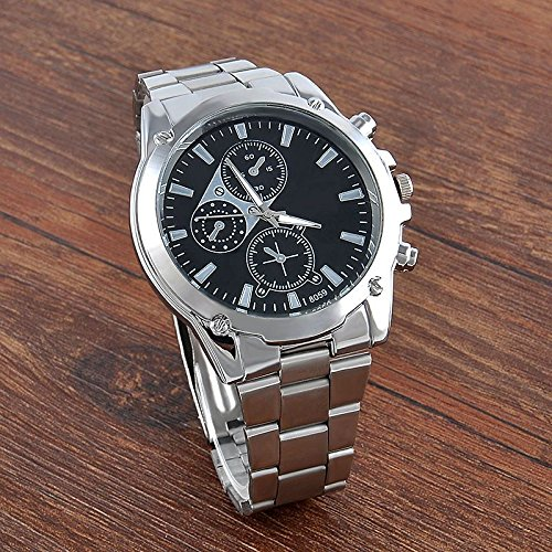 Luxury Men's Date Fashion Army Sport Stainless Steel Quartz Analog Wrist Watch (Dial Monitor Stand compare prices)