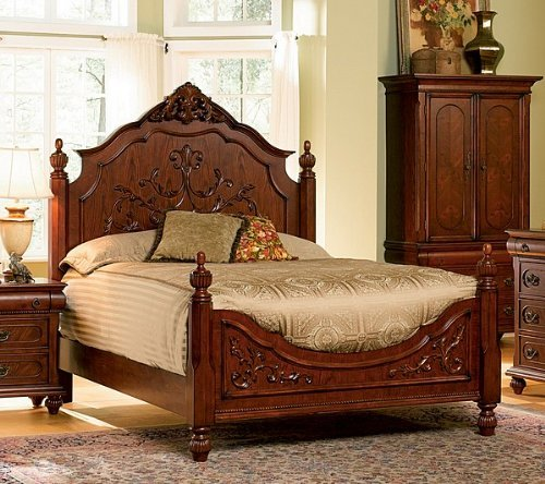 Stunning Isabella Bedroom Collection Solid Hardwood Queen Size Bed