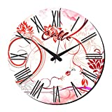 MeSleep Abstract Wall Clock With Glass Top