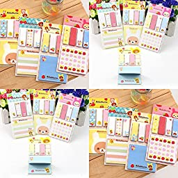 ADB Inc 2 Pack Cute Sticky Notes Pads Post It Notes Memo Flags Removable Adhesive Paper
