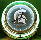 Michigan State Spartans NCAA Deluxe Neon Clock