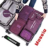 Search : Mossio 7 Sets Packing Cubes for Travel - Bonus Shoe Bag Included - Lightweight & Durable Packing Bags - Great for Carry-on Luggage Accesories