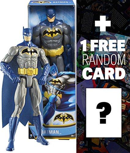 """Batman ~12"""" Action Figure: DC Comics Series + 1 FREE Official DC Trading Card Bundle"""