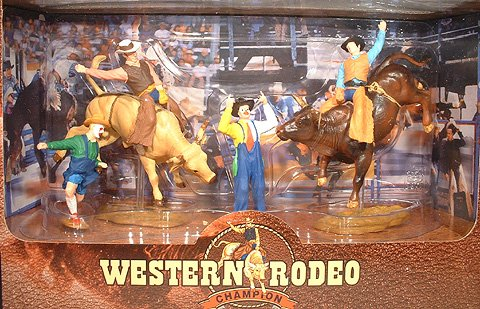 Western Rodeo Champion - Bulls and Clowns